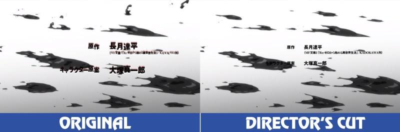 ReZero Shin Henshuu-ban Ep 2 Diferenças pro Original