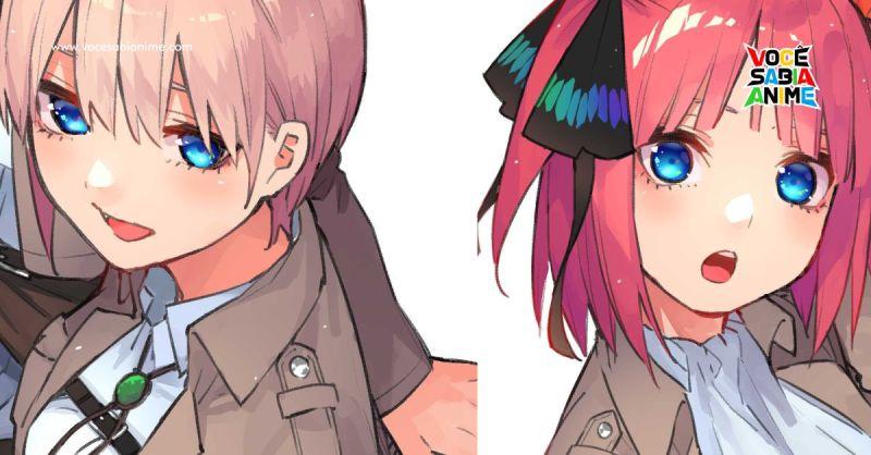 Shingeki e Gotoubun entram em Colaboração para Ilustração em revista