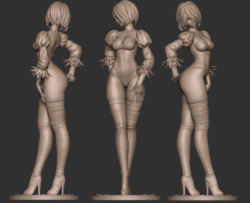 Fã faz sua Própria figure em tamanho real da 2B de Nier Automata