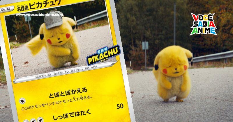 Cara Enrugada de Detetive Pikachu vira Carta oficial no TCG