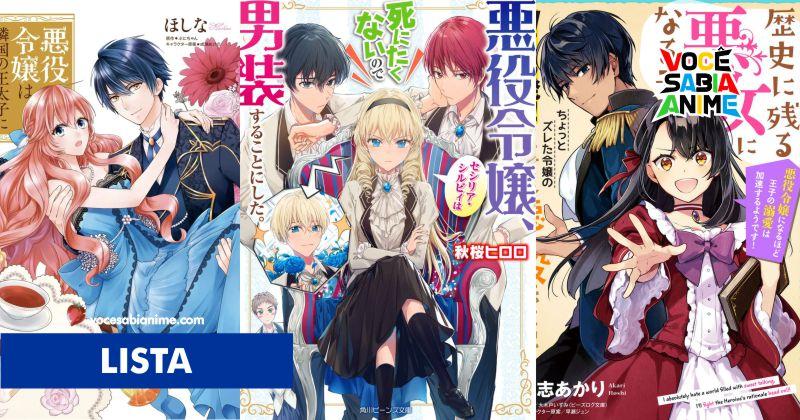 Lista 10 Light Novels com Vilãs de Otome Games