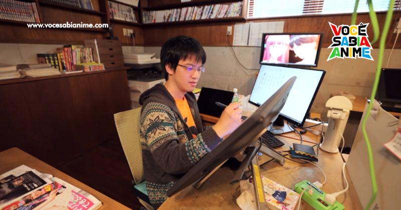 Kanojo Okarishimasu - Conheça o Autor, seu local de Trabalho e vida diária