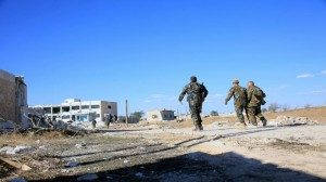 Soldados sirios en acción. Cortesía de SANA