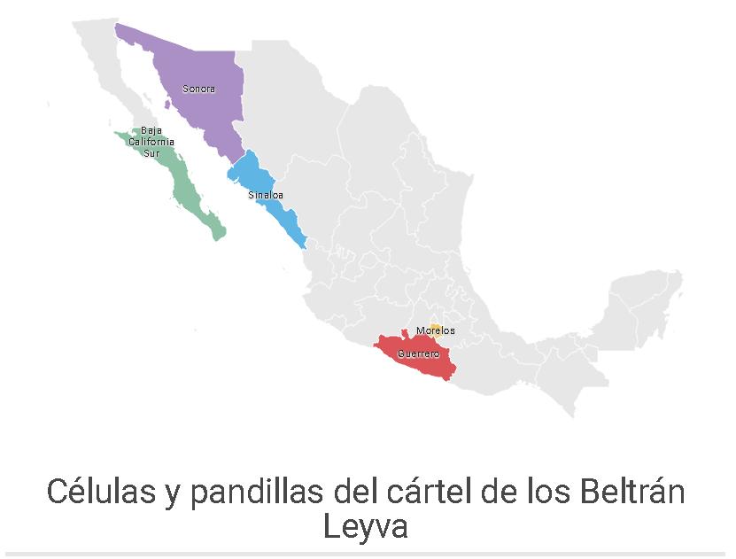 Células y pandillas del Cártel de los Beltrán Leyva. Actualidad RT