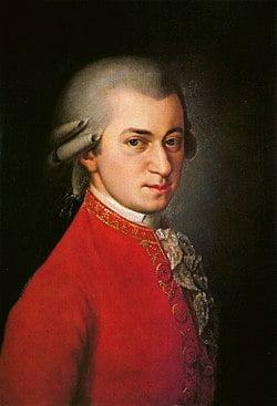 Wolfgang Amadeus Mozart. Retrato póstumo de Bábara Krafft. Wikipedia