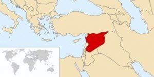 Localización de Siria. (Commons Wikimedia)