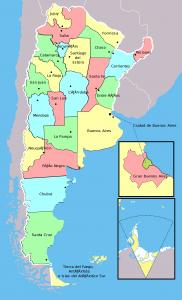Mapa de Argentina. (Commons Wikimedia)