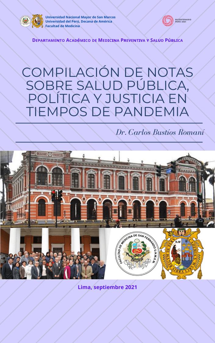 Compilación de notas sobre Salud Pública, Política y Justicia en tiempos de pandemia
