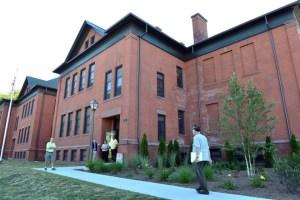 Exterior of Gordon H. Mansfield Development in Chicopee, MA
