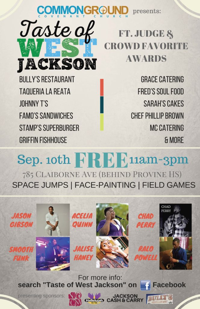 Taste of West Jackson Event September 10, 2016