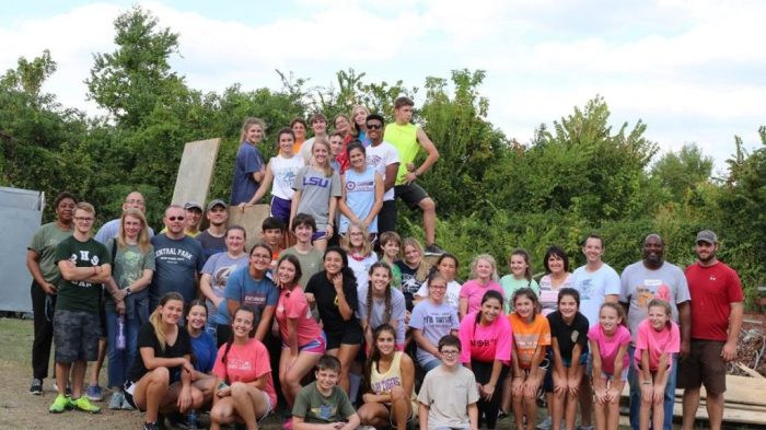 Volunteer group for First Baptist Church, Ponchatoula, LA