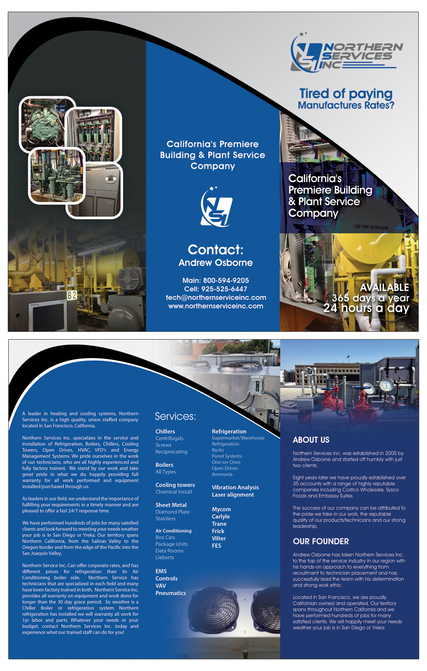 HVAC Company Brochure Design  HVAC Website Design