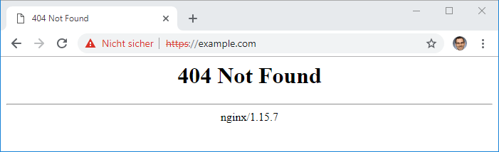 404 Not Found on HTTPS