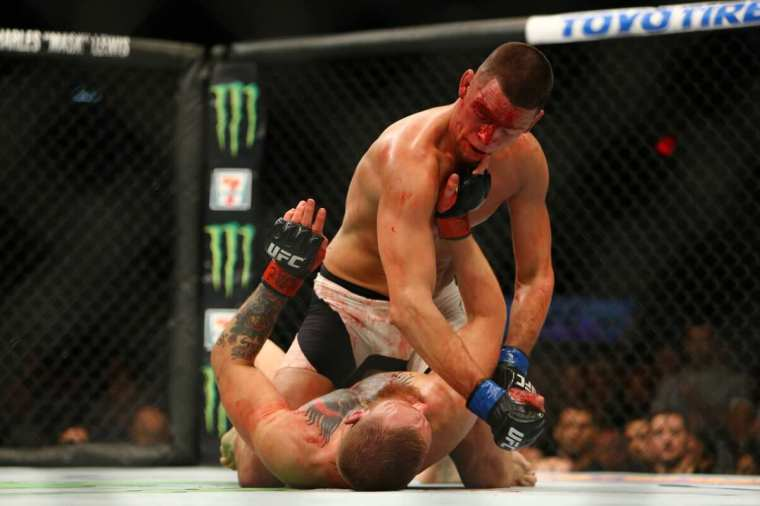 """Nate Diaz to Conor McGregor: """"Try not to get finished again""""."""