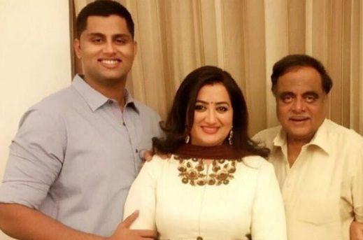 Abhishek Gowda with Family