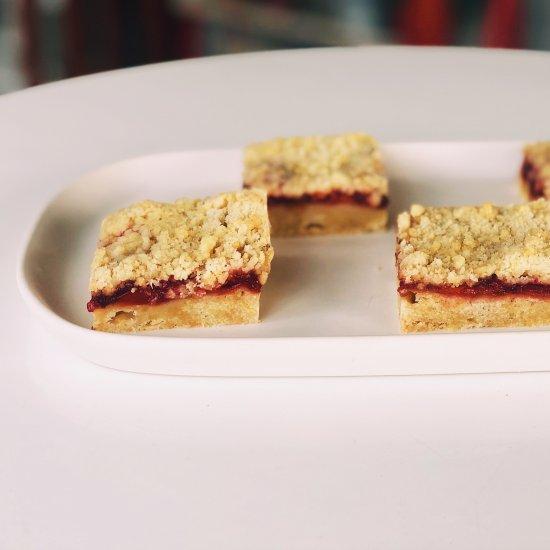 sour cherry crumb bars
