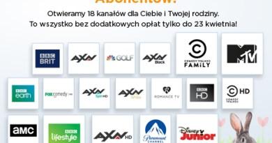 Nawet 18 dodatkowych kanałów za darmo w serwisie Cyfrowy Polsat GO