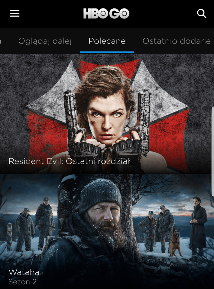Nowe HBO GO na Android