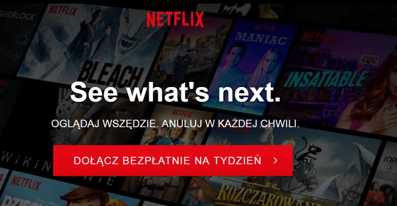 Netflix, testy, darmowy okres próbny
