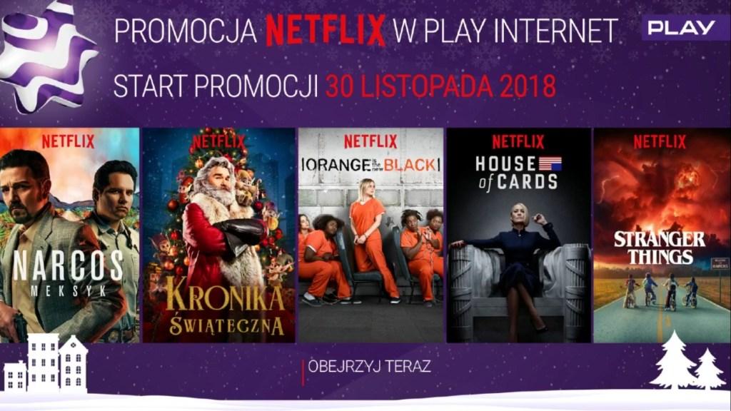 Netflix za darmo w sieci Play od 30 listopada