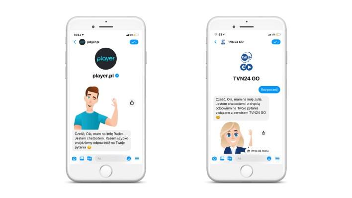 Gdzie znaleźć chatboty Radek i Julia dla użytkowników Playera i TVN24 GO?