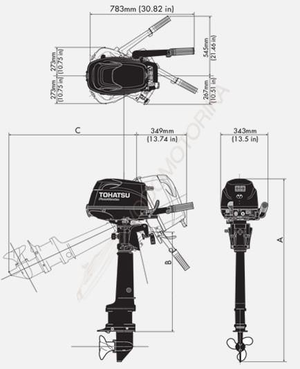 Лодочный мотор Tohatsu MFS6C Sail Pro 6 л.с
