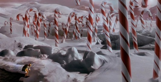 Image result for elf movie hiking candy cane forest to new york