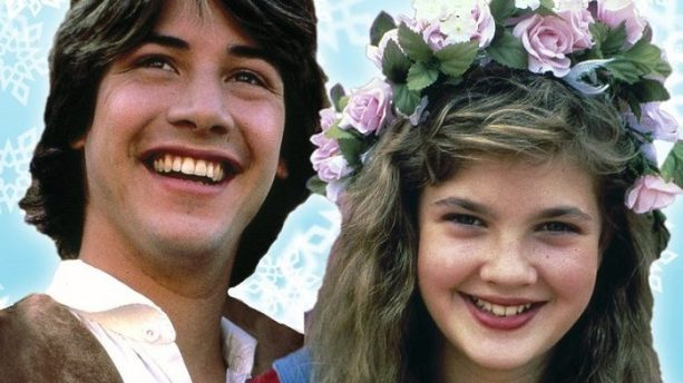 Image result for keanu reeves and drew barrymore in babes in toyland