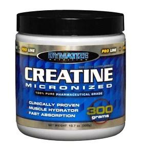 Combineer eiwit en creatine voor maximale toename van vetvrije spiermassa.