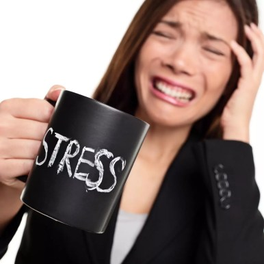 stress maakt dikker