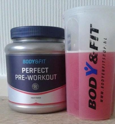perfect pre workout body en fitshop