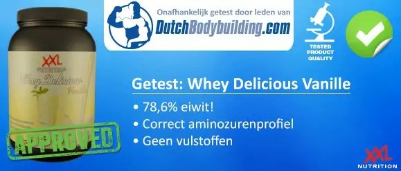 Whey Delicious review XXL Nutrition