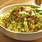 Fusilli met pesto en zalm, snel en gezond!