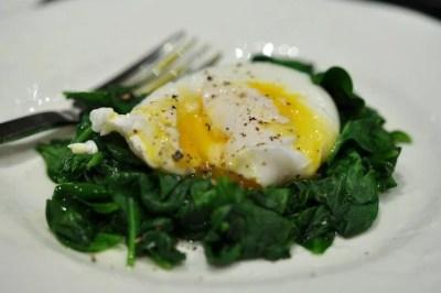 spinazie met ei