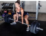 vrouw powerlifting
