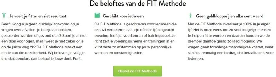 fit methode ervaring