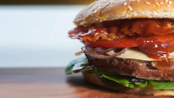 eiwitrijke hamburger