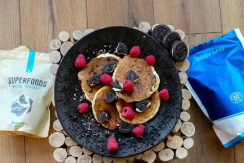 oreo protein pancakes recept