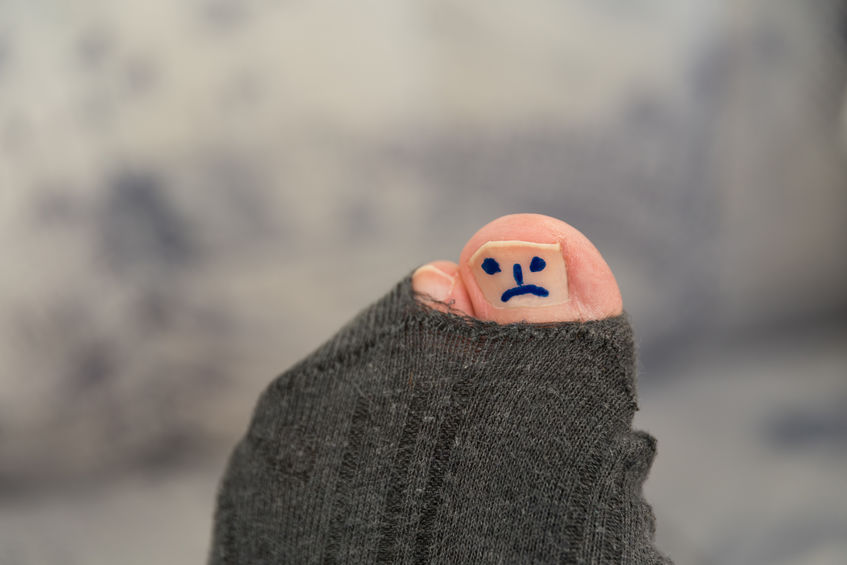 Gaten in je sokken