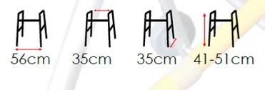 Размери на проходилка на 2 нива