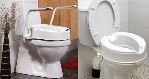 Повдигане на тоалетната чиния при сменена става