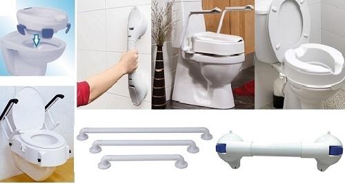Повдигане височината на тоалетна и помощни дръжки за хващане