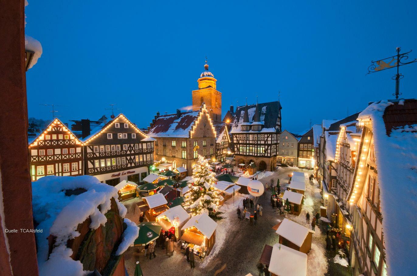 Weihnachtsmarkt in Alsfeld - Bild: TCA Alsfeld