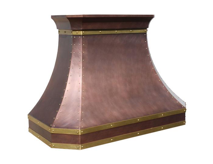 Mitered Sweep Range Hood  Copper Range Hood  Custom