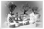 Bomboniere bonsai love B&W