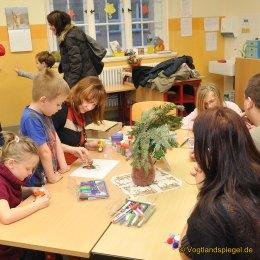 Sehr gut besuchter Weihnachtsmarkt in der Grundschule Johann Wolfgang von Goethe