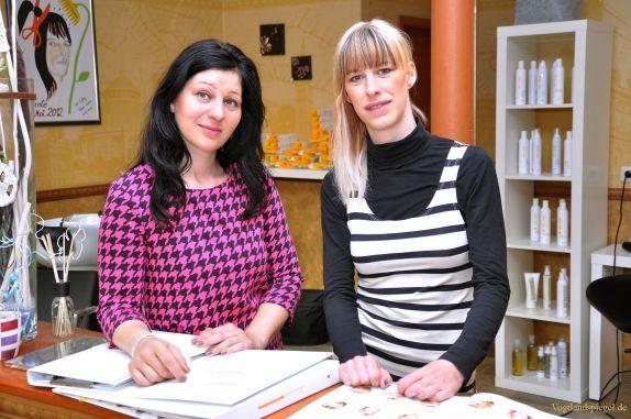 Nicole Taubert und Yvonne Täubert vom Geschäft SchnittBlume