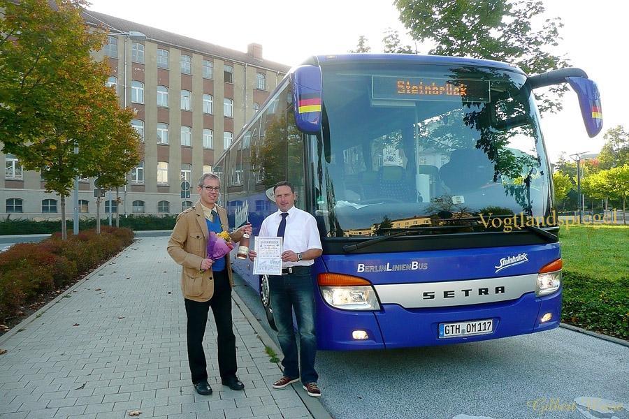 Start der Fernbuslinie Gera   Frankfurt a. M.