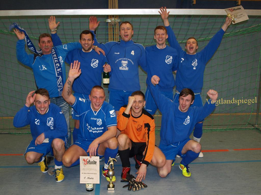 SV Blau-Weiß 90 Greiz holte sich den Pokal des Hainberger SV
