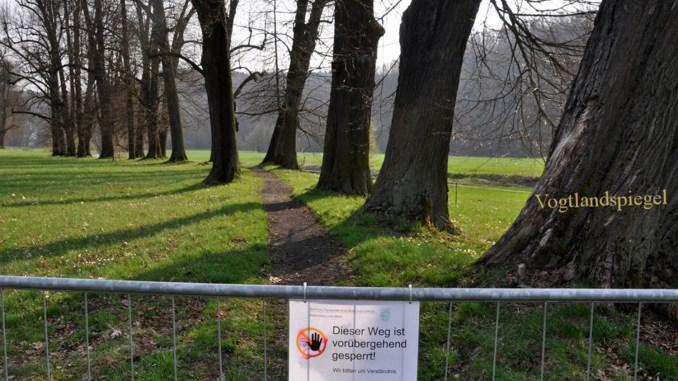 Seufzerallee im Greizer Park gesperrt